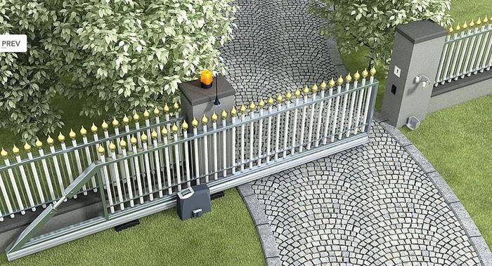 Cửa cổng sắt kéo lựa chọn phù hợp nhất với nhà có mặt bằng rộng